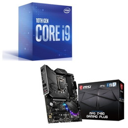 Intel Core i9 10900 BOX + MSI MPG Z490 GAMING PLUS セット