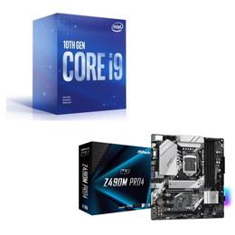 Intel Core i9 10900F BOX + ASRock Z490M Pro4 セット