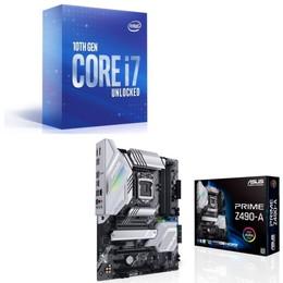 Intel Core i7 10700K BOX + ASUS PRIME Z490-A セット