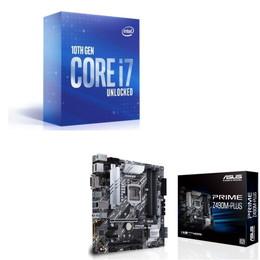 Intel Core i7 10700K BOX + ASUS PRIME Z490M-PLUS セット