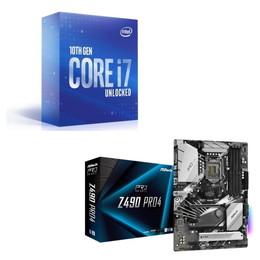 Intel Core i7 10700K BOX + ASRock Z490 Pro4 セット