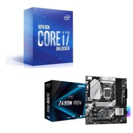 Intel Core i7 10700K BOX + ASRock Z490M Pro4 セット