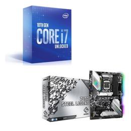 Intel Core i7 10700K BOX + ASRock Z490 Steel Legend セット