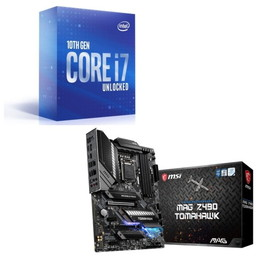 Intel Core i7 10700K BOX + MSI MAG Z490 TOMAHAWK セット