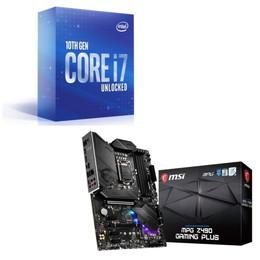 Intel Core i7 10700K BOX + MSI MPG Z490 GAMING PLUS セット