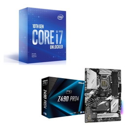 Intel Core i7 10700KF BOX + ASRock Z490 Pro4 セット