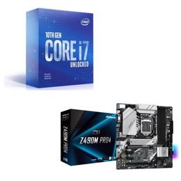 Intel Core i7 10700KF BOX + ASRock Z490M Pro4 セット