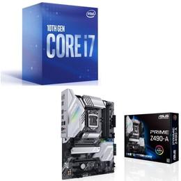 Intel Core i7 10700 BOX + ASUS PRIME Z490-A セット