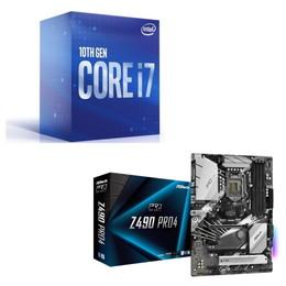 Intel Core i7 10700 BOX + ASRock Z490 Pro4 セット