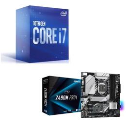 Intel Core i7 10700 BOX + ASRock Z490M Pro4 セット