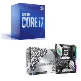 Intel Core i7 10700 BOX + ASRock Z490 Steel Legend セット
