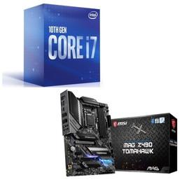 Intel Core i7 10700 BOX + MSI MAG Z490 TOMAHAWK セット