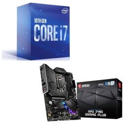 Intel Core i7 10700 BOX + MSI MPG Z490 GAMING PLUS セット
