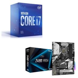 Intel Core i7 10700F BOX + ASRock Z490 Pro4 セット