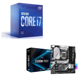 Intel Core i7 10700F BOX + ASRock Z490M Pro4 セット