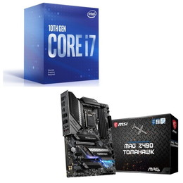 Intel Core i7 10700F BOX + MSI MAG Z490 TOMAHAWK セット