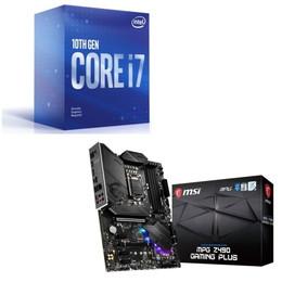 Intel Core i7 10700F BOX + MSI MPG Z490 GAMING PLUS セット