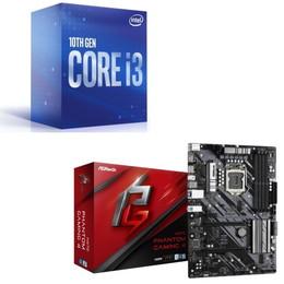 Intel Core i3 10100 BOX + ASRock H470 Phantom Gaming4 セット