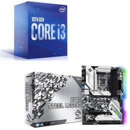 Intel Core i3 10100 BOX + ASRock H470 Steel Legend セット