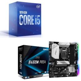 Intel Core i5 10600 BOX + ASRock B460M Pro4 セット