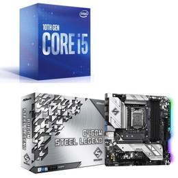 Intel Core i5 10600 BOX + ASRock B460M Steel Legend セット