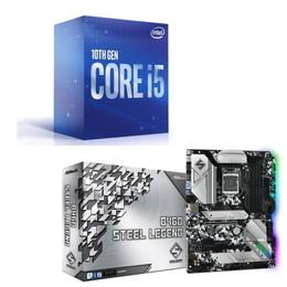 Intel Core i5 10400 BOX + ASRock B460 Steel Legend セット