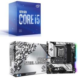 Intel Core i5 10400F BOX + ASRock B460M Steel Legend セット