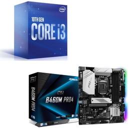 Intel Core i3 10320 BOX + ASRock B460M Pro4 セット