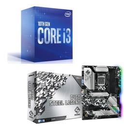 Intel Core i3 10100 BOX + ASRock B460 Steel Legend セット