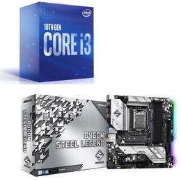 Intel Core i3 10100 BOX + ASRock B460M Steel Legend セット
