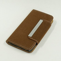 J798 i6 革バックスキン風 ブラウン Mobile phone cover(NT)