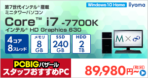 STYLE-M022-i7K-HNR-L [Windows 10 Home]89980