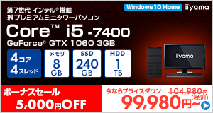 Miyabi-EJ3M-i5-RNJR [Windows 10 Home]