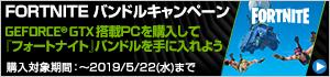NVIDIA® GeForce® GTX FORTNITE バンドルキャンペーン