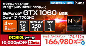LEVEL-15FX093-i7-RNFVI [Windows 10 Home]166980