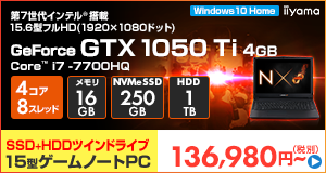 LEVEL-15FX088-i7-LXSVI [Windows 10 Home]