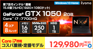 LEVEL-15FX078-i7-LNSVI [Windows 10 Home]129,980円(税別)~