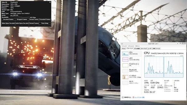 まずは、フルHD(1080p 60fps)の動画から。