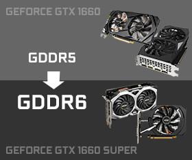 GeForce GTX 1660 Ti に近い性能にアップグレードされたGeForce GTX 1660 SUPER