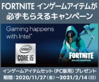 FORTNITE インゲーム ・ アイテムが必ずもらえるキャンペーン 購入対象期間 2021/2/14迄のイメージ画像