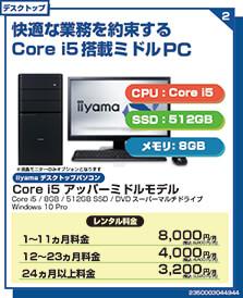 Core i5 アッパーミドルモデル
