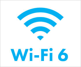 2基の有線ギガビットLANと最新の無線LAN規格 Wi-Fi6に対応