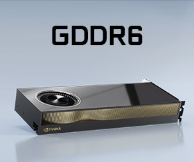 ECC対応GDDR6メモリとPCI-E4.0対応