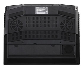 ホコリ対策された新設計ファンによる強力な冷却機構