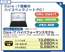 Core i7 ハイパフォーマンスモデル15インチ